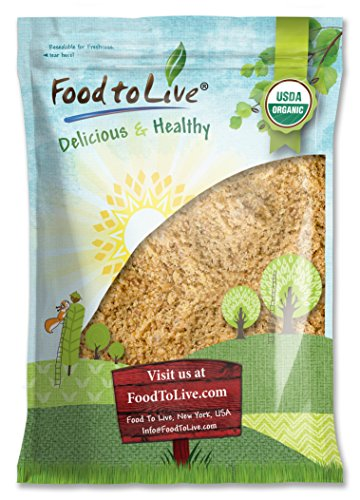Organic Ground Golden Flaxseed Meal (Cold-Milled, Raw, Non-GMO, Kosher, Bulk) by Food to live — 4 Pounds