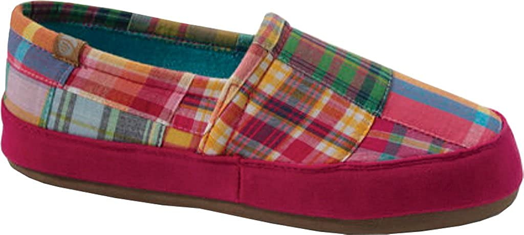 Acorn Women's Moc Summerweight Print Slippers Bright Madras L