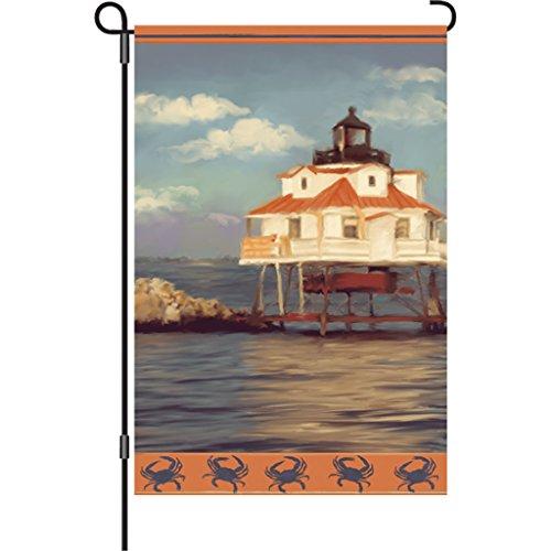 - Premier 51238 Garden Illuminated Flag, Thomas Point Lighthouse, 12 by 18-Inch