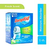 Automotive : DampRid Drop-In Moisture Absorbing Tab Starter Kit; 15.8 Oz. Fresh Scent Drop-In Tab Attracts Excess Moisture to Create Fresher, Cleaner Air and Remove Musty Odors