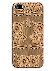 Wooden Indie Owl Shapes Case for your iPhone 5/5S