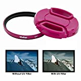 52mm Pink UV Filter and Lens Cap for Nikon Cameras Which Has Any Of These Lenses 24mm f2.8, 35mm f1.4, 35mm f1.8G, 50mm f1.2, 50mm f1.4, 55mm f2.8, 105mm f2.8, 200mm f2G, 18-55mm, 200-400mm, 55-200mm