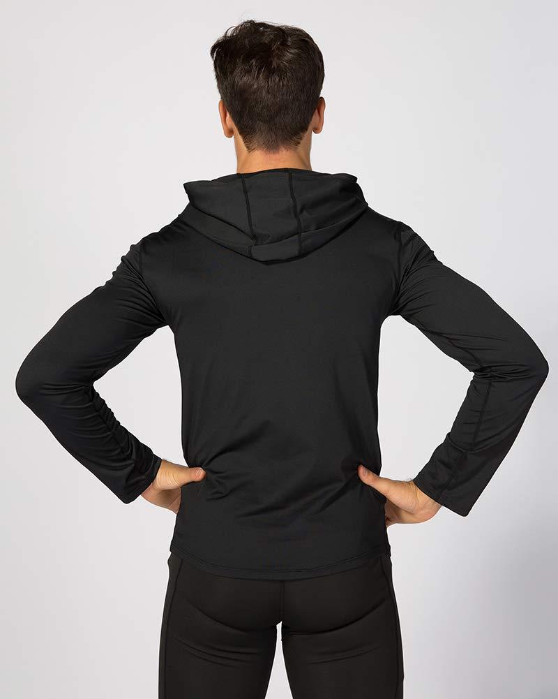 Shengwan Gym Fitness Felpa con Cappuccio Uomo Traspirante Maglietta a Manica Lunga Running e Sportivo