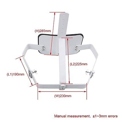 BQLZR 33 x 23,5 cm acero blanco de marcha de Tambores Carrier ...