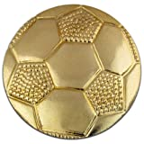 Soccer Ball Gold Chenille Sports Lapel Pin