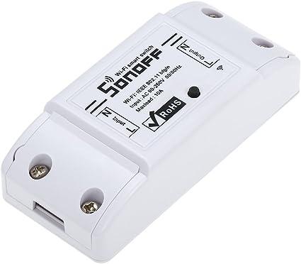 OWSOO SONOFF Interrupteur Intelligent Wi-FI,10A//2200W commutateur sans Fils,Fonction Timing Compatible avec Alexa pour Android//iOS Google Home APP,Universal Smart Home