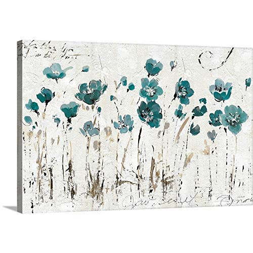 Abstract Balance VI Blue Canvas Wall Art Print, 48