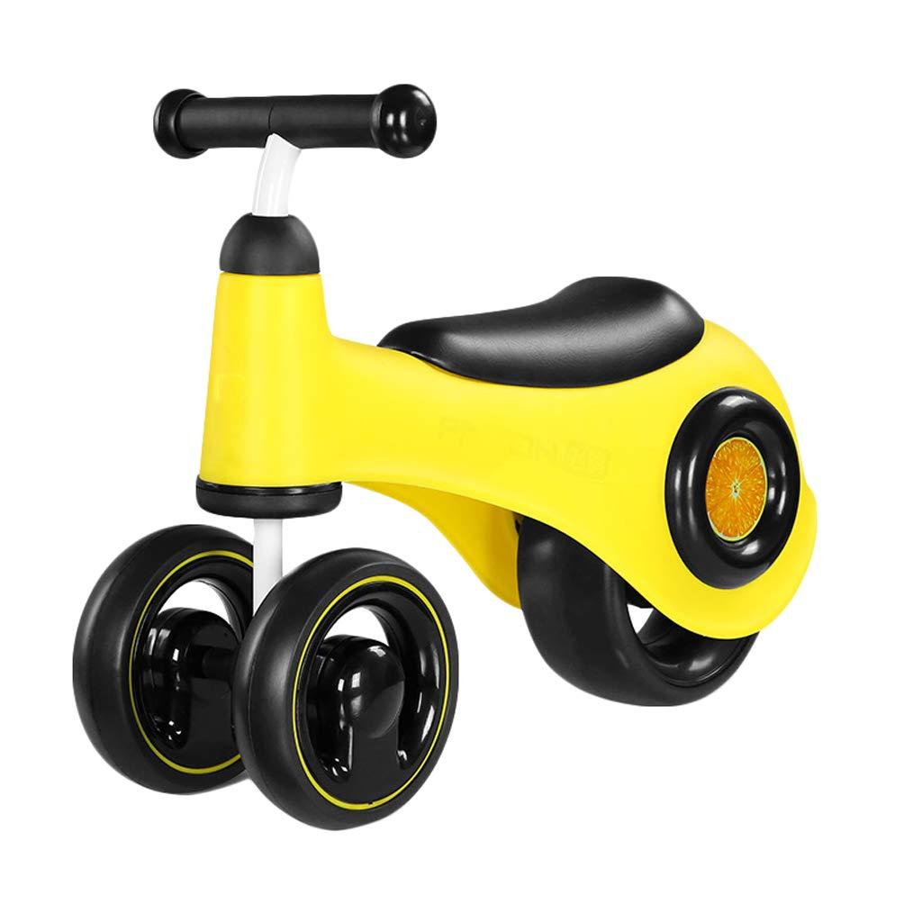 Scooter ZHAOSHUNLI Bicicleta De Equilibrio Equilibrio para Niños Coche 1-3 Años De Edad Bebé Walker Light Boy Girl Deslizante De Interior Twist Car Toy Toy Car (Color : Amarillo)