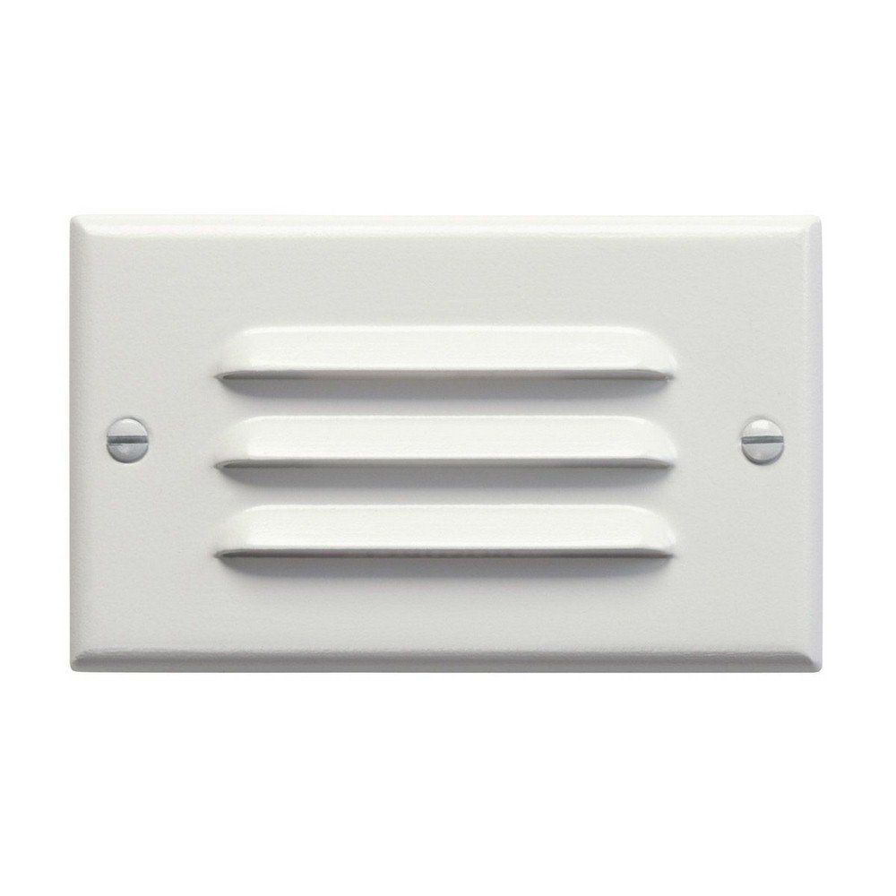 Kichler 12600WH Step and Hall 120V LED Step Light Horizontal Louver, White by KICHLER