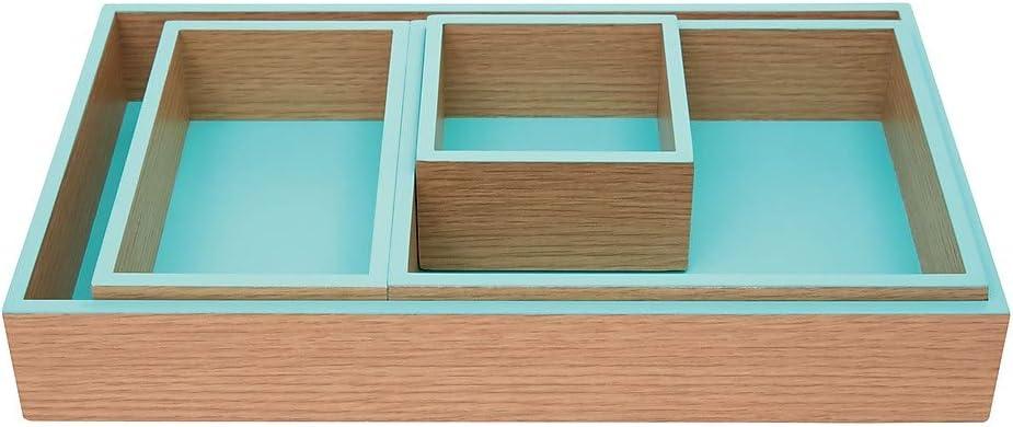Office by Martha Stewart 2298388 Office by Martha Stewart Modular Tray Blue 4 Pack (29917)