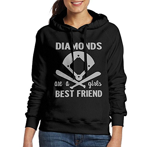 - Softball Diamonds A Girl's Best Friend Womens Simple Style Hoodie Sweatshirt Hoodie Pullover