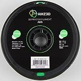 AMZ3D 1.75mm Green ABS 3D Printer Filament - 1kg Spool (2.2 lbs) - Dimensional Accuracy +/- 0.03mm
