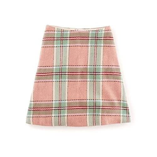 Boden Wool Pink Lois Check A Line Skirt Size US 6 free shipping