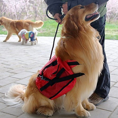 sxbest 1 Pack Large Dog Bag Saddle Backpack for Outdoor Hiking Camping Training travling Pet Carrier Product Snack Bag by zswellgo
