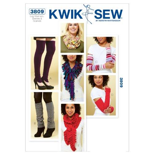 Mccall Pattern Kwik Sew K3809 Leg Warmers Sewing Pattern,...