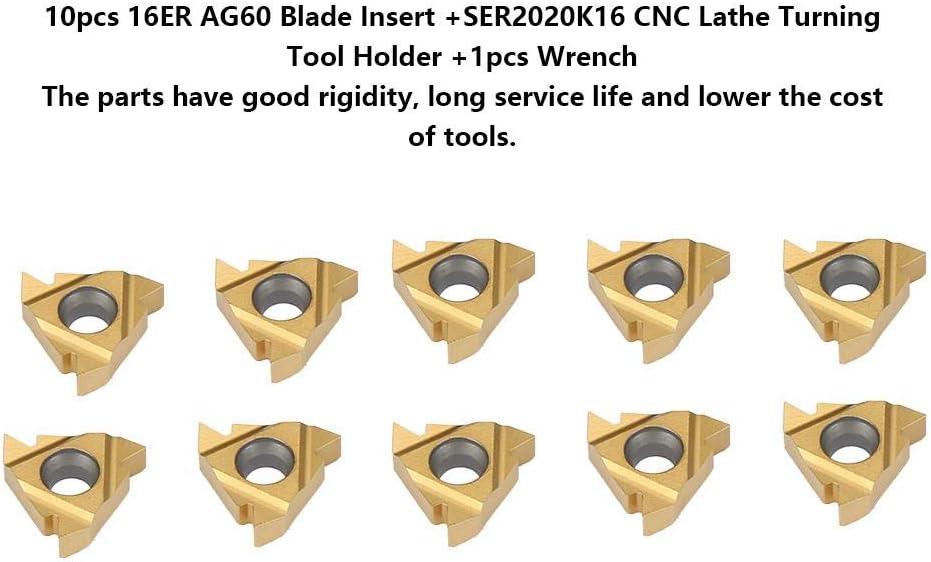 Utensile da tornio per tornio chiave 1pc inserto lama 10er 16ER AG60 SER2020K16 Barra per alesatura portautensili da tornio CNC