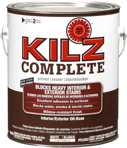 KILZ Complete High-Adhesion and Penetration Interior/Exterior Oil-Based Primer/Sealer, White, 1-gallon ()