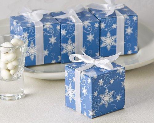 Amazon Winter Wishes Snowflake Wedding Favor Box 24 Pack