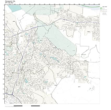 Amazon.com: ZIP Code Wall Map of Concord, CA ZIP Code Map