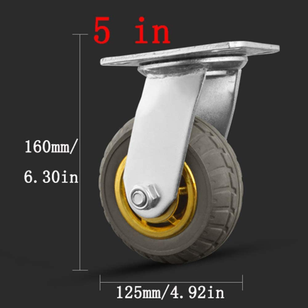 Casters,4 Pieces Heavy Mute Office Chair Swivel Chair Universal Wheel,Flatbed Truck Trolley Industry Directional Wheel,Replace Accessories with Brake Furniture Wheel,Castor Wheels,360