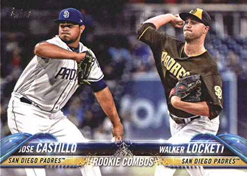 (2018 Topps Update and Highlights Baseball Series #US169 Jose Castillo/Walker Lockett RC Rookie San Diego Padres Official MLB Trading Card)