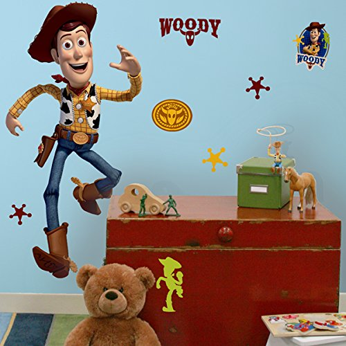 Roommates Rmk1430Gm Toy Story Woody Peel & Stick Giant Wall Decal (Disney Duo Costumes)