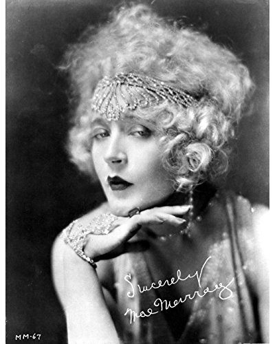 Globe Photos ArtPrints Mae Murray In A Lace Top With Signature - 8