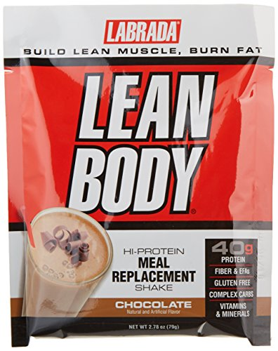 Labrada Nutrition Lean Body Hi-Protein Meal Replacement Shake, Chocolate Ice Cream, 2.78-Ounce Packets, (Labrada Lean Body Shake)