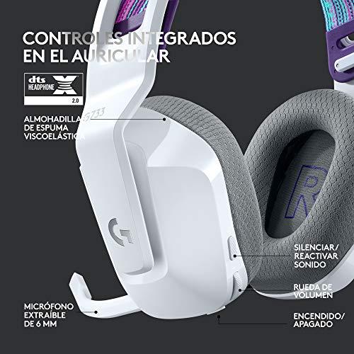 Logitech G733 LIGHTSPEED Auriculares con Micrófono Inalámbricos para Gaming con Diadema con Suspensión, LIGHTSYNC RGB…