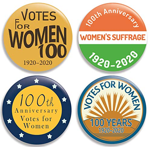Discover Bargain Votes for Women - 100th Anniversary - Collection II - Pinback Buttons/Pins (2.25 in...