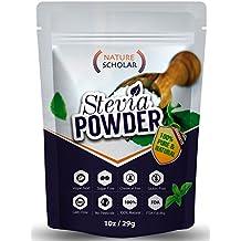 Nature Scholar Stevia Powder 1 Oz (190 servings) - 100% Pure & Natural Stevia Extract Sugar Substitute Zero Calorie Chemical Free