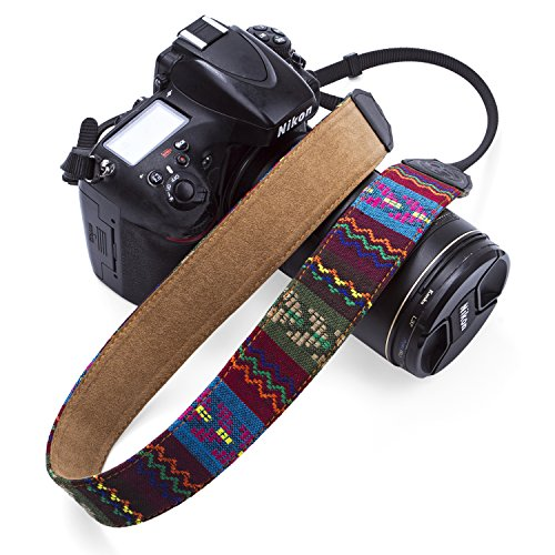 Camera Strap Retro Vintage VNS Soft Safety Tether Multi-color Neck Wrist Strap for Canon Nikon Olympus Fuji Pentax Panasonic Sony Camera and Dslr DSLR Camera (Vintage-1328)