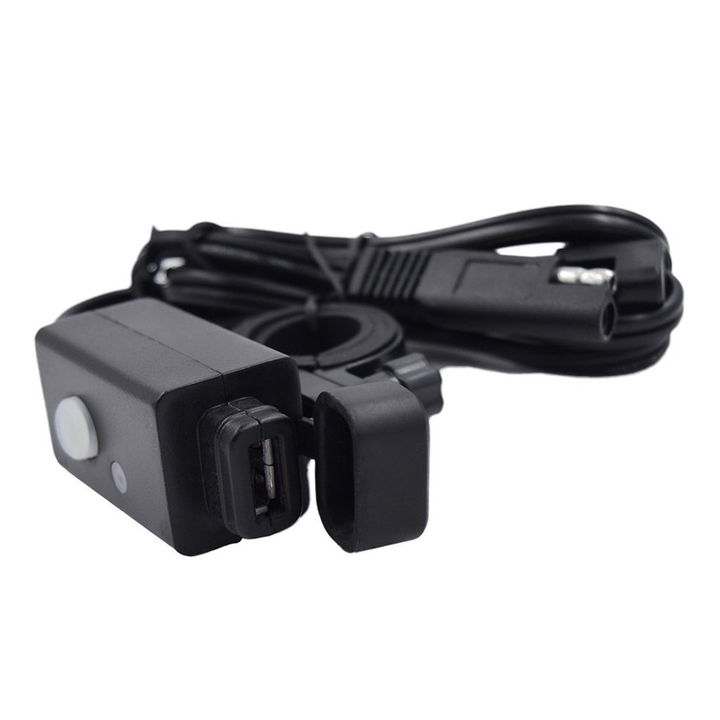 Gazechimp Chargeur Adaptateur Impermé able USB DC 5V 2.1A Avec Câ ble SAE Connexion Rapide pour Moto Auto Voiture Vé hicules