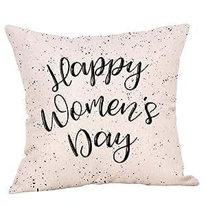 VJGOAL Feliz Día de la Madre Carta de impresión de algodón ...