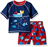 Wippette Baby Boys INF Pelican 2PC Rashguard Set, Red, 18M