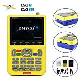 #9: Genuine DMYCO V8 Signal Finder Free Sat HD 1080P DVB-S/S2 Digital FTA Satellite Signal Meter MPEG-4 Satellite Direct TV Dish Receiver Tool with 3.5 Inch LCD Screen Display
