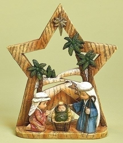 Roman, Inc. Nativity Pageant with Glass Votive Cup