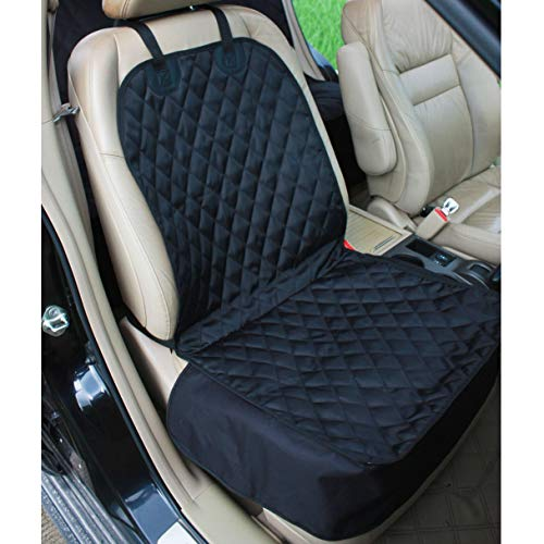 Amochien Pet Front Seat Cover Protector-Waterproof Oxford Soft Quilted Non-slip Backing Dog Front Seat Cover for Cars Seat Covers for Cars Front Seats Black For Sale