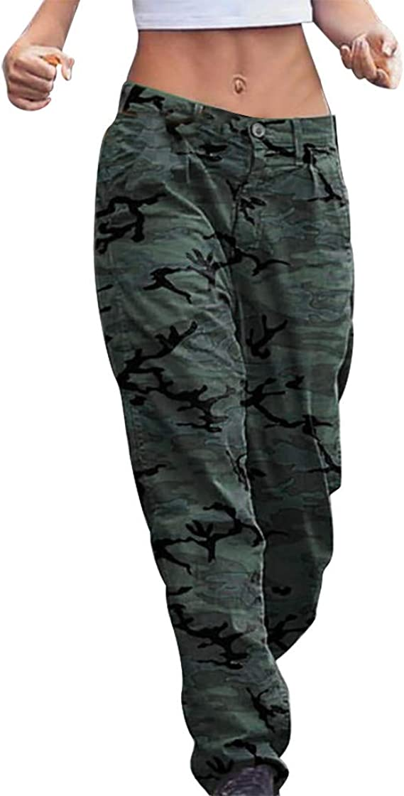 sneakers for cheap detailed pictures amazing selection Bravetoshop Women's Plus Size Camouflage Print Trousers Pants with ...