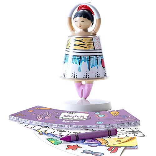 Toyish Award Winning Girls Toys for Toddler & Preschool Kids - Arts & Crafts Ballerina Dancer Toy Kit with Coloring Book & Stickers - Boost Creativity & Learning for Age 3 - 8 Year Old]()