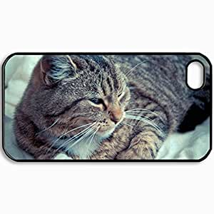Fashion Unique Design Protective Cellphone Back Cover Case For iPhone 4 4S Case Cat Black