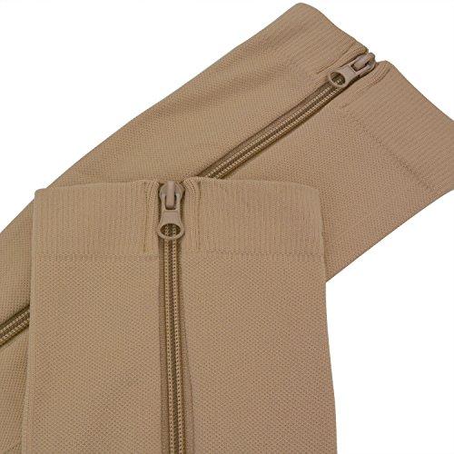 Zipper Compression Socks, Aniwon Open Toe Compression Socks Calf Leg Support Hose Stocking