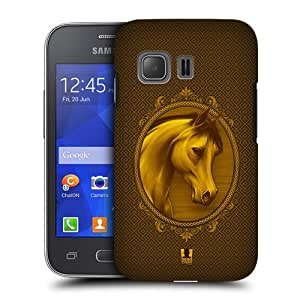 Head Case Designs Royal Year of the Horse Protective Snap-on Hard Back Case Cover for Samsung Galaxy Young 2 G130 by icecream design