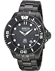 Invicta Mens 19810 Pro Diver Automatic 3 Hand Charcoal Dial Watch