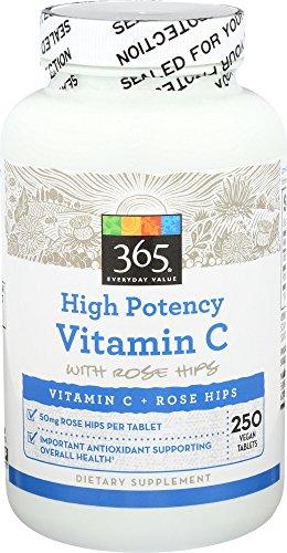 365 Everyday Value, Vitamin C 1000 w Rosehips, 250 ct