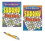 Kemah Craft 3501KC Set of 2 Brain Buster Sudoku Puzzles with Kemah Bamboo Pen