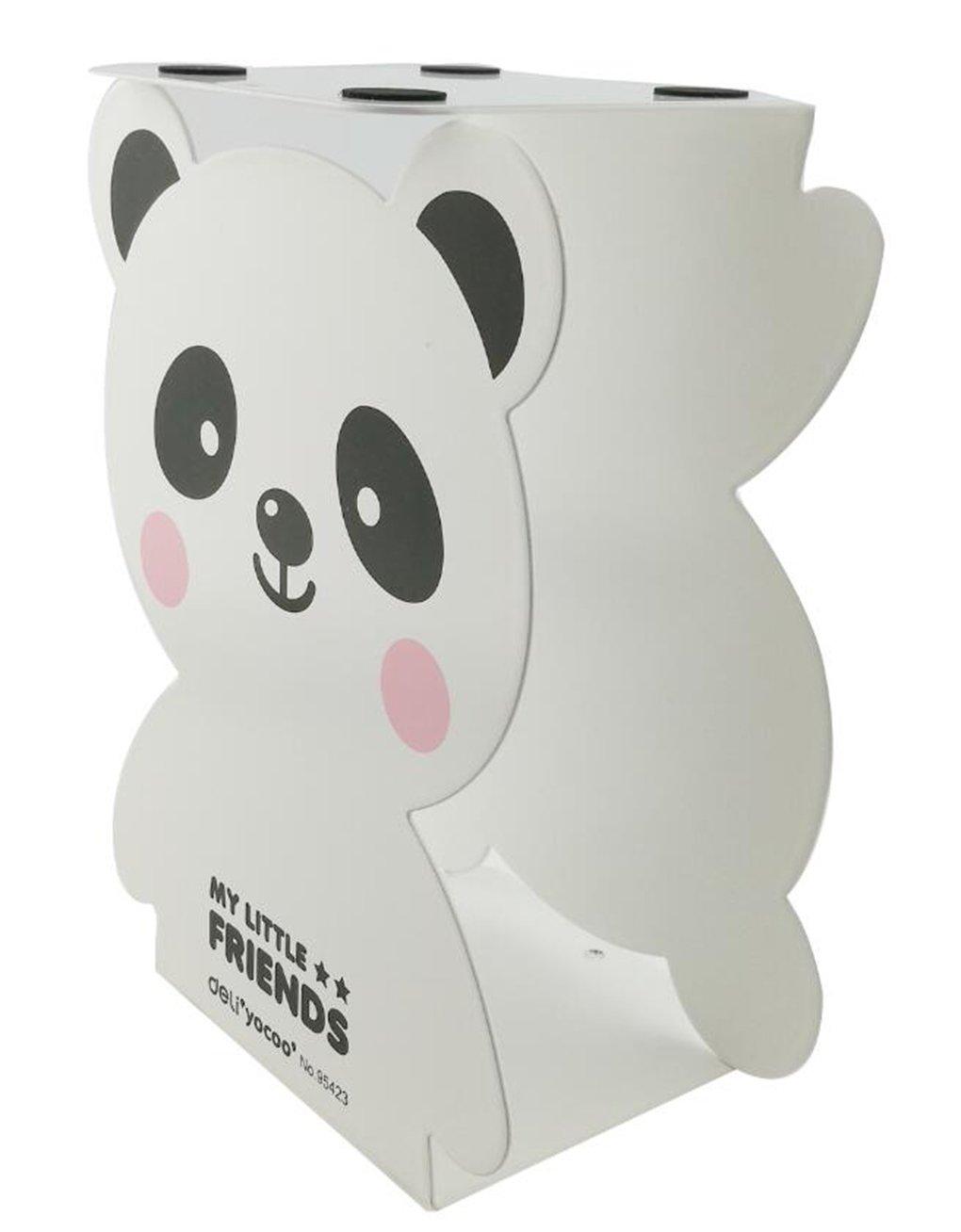 White Winterworm Cartoon Cute Lovely Panda Bear Pattern Nonskid Heavy Metal Office Desk Bookends for kids children