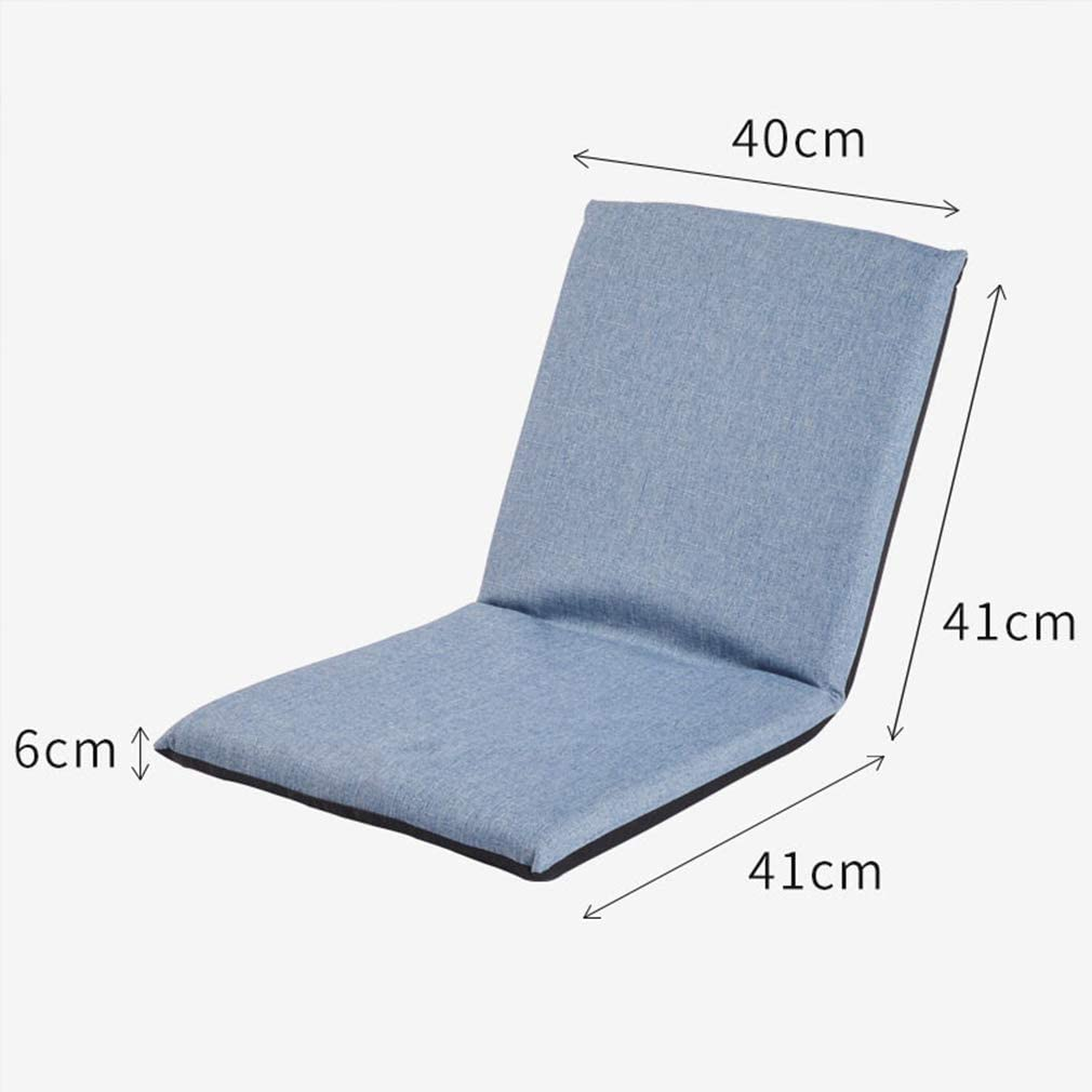 Adjustable folding sofa chair, Padded folding floor seats Lazy Couch Tatami game chair, Meditation chair for reading Watch TV Resistant Indoor Outdoor (Color: blue) Blue
