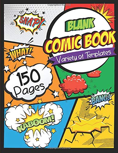 Blank Comic Book Sketchbook Creativity product image