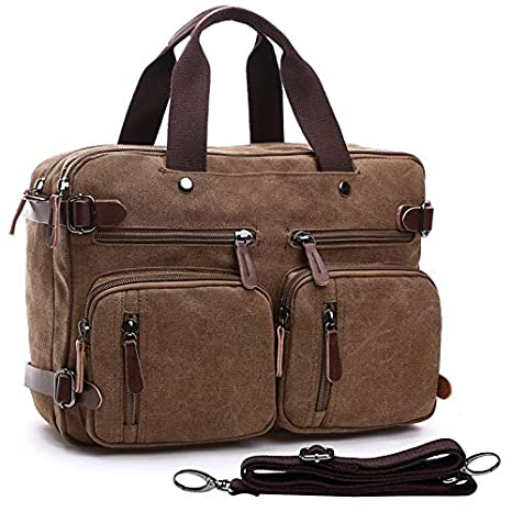 b99aa26e8002 Laptop Backpack Messenger Bag Multifunction Briefcase 15.6 Inch Laptop Bag  Work Bag School Bag for Men Women